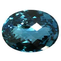 迫力のある大粒サイズと深い彩りが魅力ロンドンブルートパーズ 宝石 ルース 139.48CT