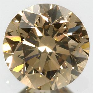 お買い物マラソンファンシーライトブラウンダイヤモンド 宝石 ルース 0.297CT