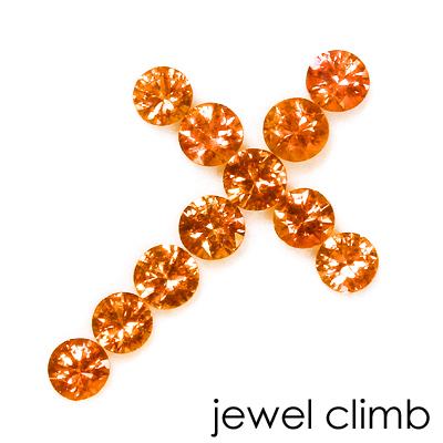 商い 内祝い 送料無料 限定クロスパック オレンジサファイア クロスパック1.80CT ルース 宝石