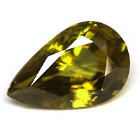 【キャッシュレス5%還元】イエロースフェーン 宝石 ルース 1.88CT