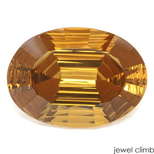 特徴的なカットが施された良質結晶 2 28まで新入荷価格変更中 お気にいる 好評 コニャックシトリン ルース 宝石 15.59CT