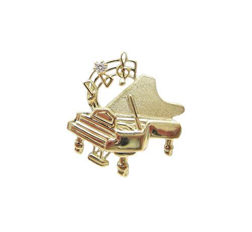 グランドピアノ タイニー ピンブローチ 18金製