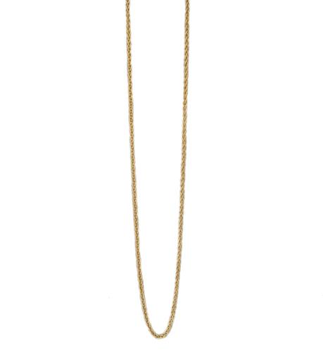 K18YG マットなイタリアン デザイン ネックレス