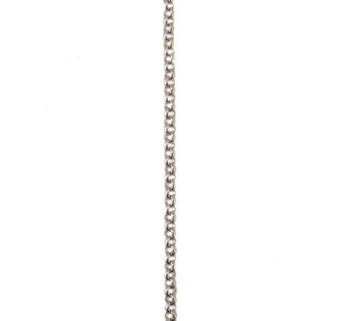 ホワイトゴールド アズキチェーン スライドアジャスター付 60cm