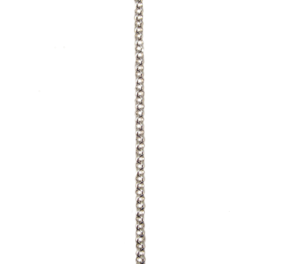 ホワイトゴールド アズキチェーン スライドアジャスター付 50cm