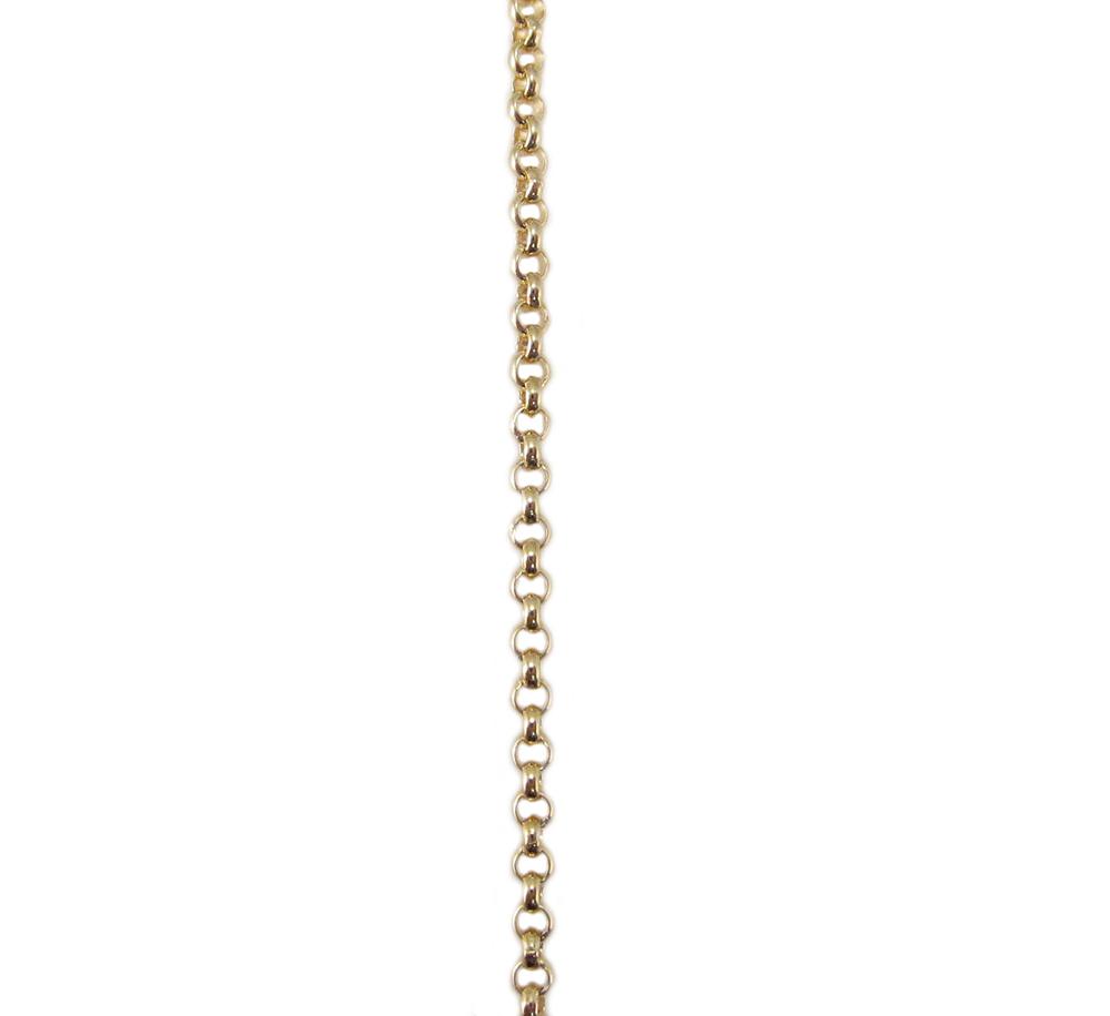 イエローゴールド アズキチェーン スライドアジャスター付 50cm