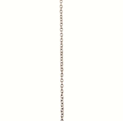 ホワイトゴールド 丸アズキ チェーン スライドアジャスター付45cm
