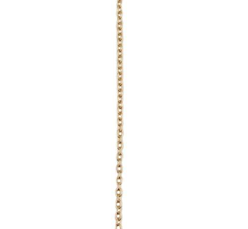 イエローゴールド 丸アズキ チェーン スライドアジャスター付45cm