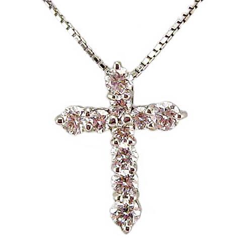 クロスモチーフ ダイヤモンド ペンダント ネックレス