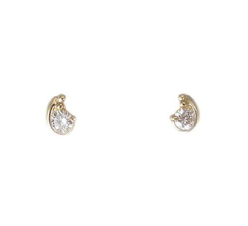 K18 イエローゴールド ダイヤモンド ピアス