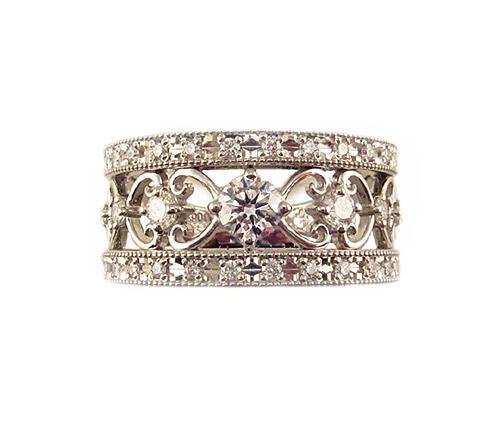 プラチナ ダイヤモンド ファッション リング