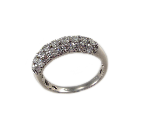 プラチナ ダイヤモンド パヴェ リング