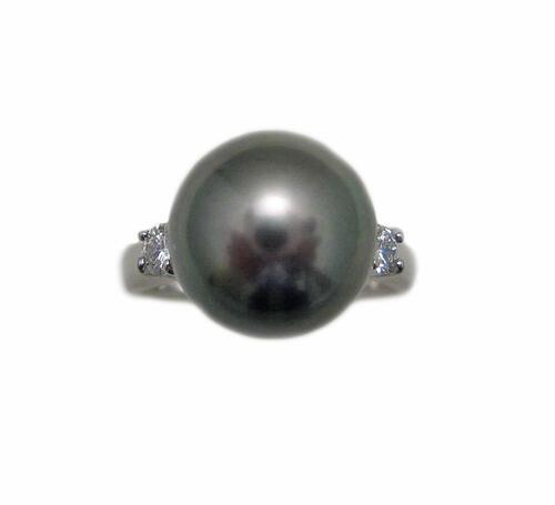 黒蝶貝 南洋真珠 プラチナ リング