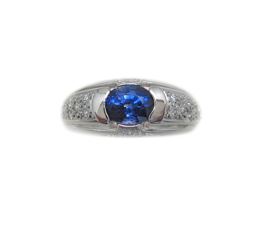 プラチナ サファイア ダイヤモンド リング