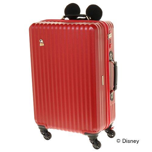 ≪ジュエルナローズ≫カレッジ・ミッキー型ハンドルカバー付きスーツケース/06039