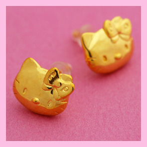 Hello Kitty Kitty earrings HELLO KITTY×tinkpink Kitty-Chan KittyPierce accessories gifts gift Christmas wrapping fs3gm