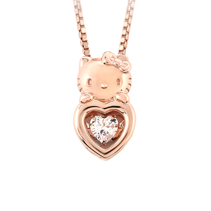 40400bced ... Hello Kitty heart necklace lovely mature goods dancing stone Lady's  pendant Kitty Lady's jewelry woman- ...