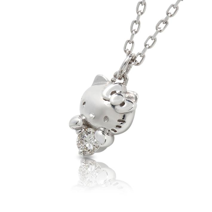 J plus rakuten global market hello kitty diamond necklace grain hello kitty diamond necklace grain natural diamond pendant hello kitty kitty chan toy ladies j mozeypictures Gallery