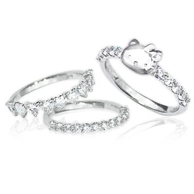 キティ リング 大人 カワイイ ジュエリー 指輪 プレゼント ギフト 誕生日 女性