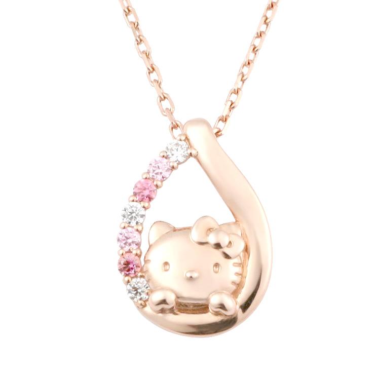 ハローキティ ネックレス 大人 グッズピンク インボー ティアドロップ キティちゃん pink レディース ジュエリー アクセサリー おすすめ ギフト キティ プレゼント 誕生日 記念日 女性 彼女 サンリオ