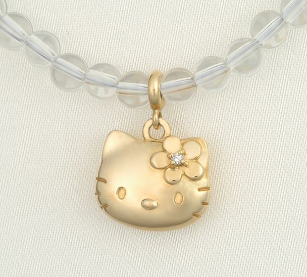 Hello kitty HELLO KITTY18 gold diamond quartz necklace Kitty accessories present gift Christmas lapping fs3gm