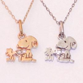 スヌーピー 10金 ネックレス 大人 SNOOPY グッズ スヌーピー&ウッドストック ダイヤモンド プチ K10 誕生日プレゼント プレゼント ペンダント 誕生日 記念日 ギフト ラッピング おすすめ 彼女 女性 レディースジュエリー