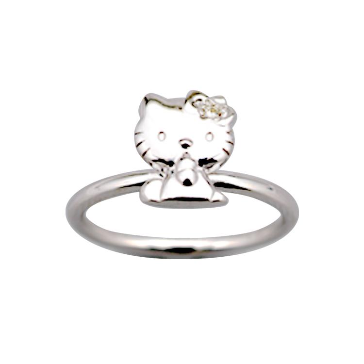 ハローキティ リング 大人 かわいい グッズ キティちゃん 指輪 ジュエリー アクセサリー 誕生日プレゼント プレゼント ギフト 女性 レディース ジュエリー 在庫限り サンリオ