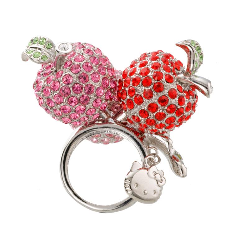 ハローキティ 大人 アップル リング キティちゃん 指輪 アクセサリー 誕生日プレゼント キティ プレゼント キティちゃん ギフト ラッピング おすすめ 女性 レディースジュエリー