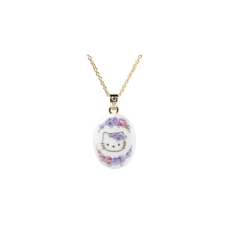 ハローキティ ネックレス 大人 カワイイ グッズ HELLO KITTY・オーバル(ミニ) ラヴェンダー※発送までに1~2週間ほどお時間を頂いております。 誕生日プレゼント プレゼント ギフト 贈物 キティちゃん 女性 レディースジュエリー