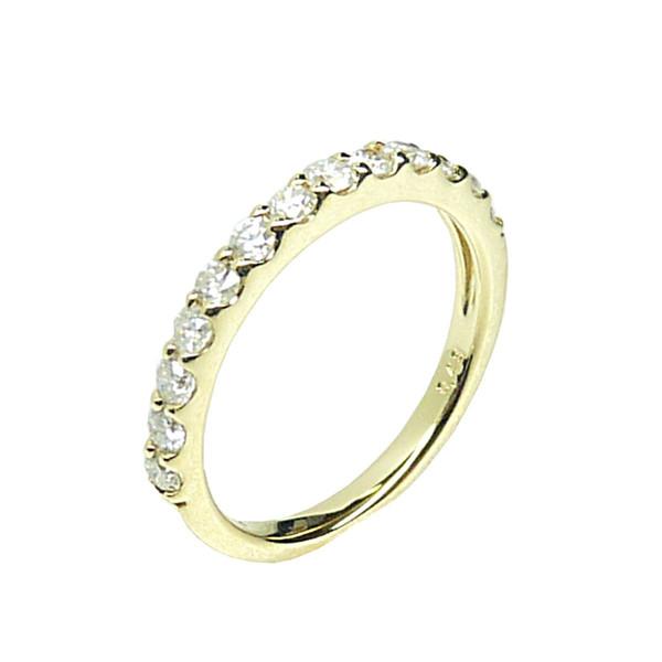 K18 ダイヤモンド ハーフエタニティーリング