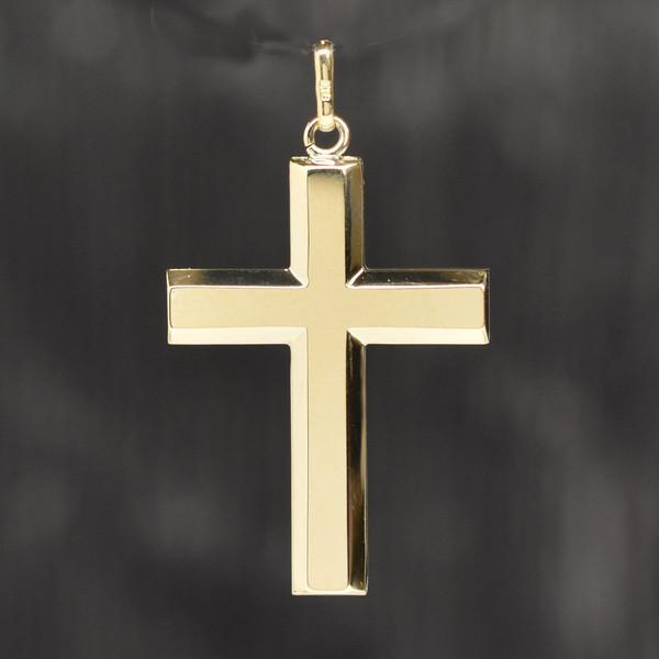 K18 18金 クロスペンダント 30×19×1.6mm【ペンダントトップ ペンダントヘッド チャーム 十字架 ゴールド おしゃれ オシャレ プレゼント 贈り物 贈物】