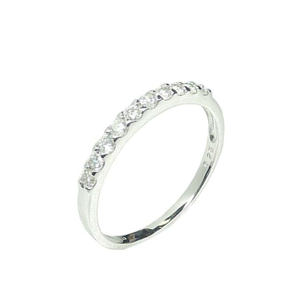 K10WG 10金 ダイヤモンド 10石 0.25ct ハーフエタニティーリング