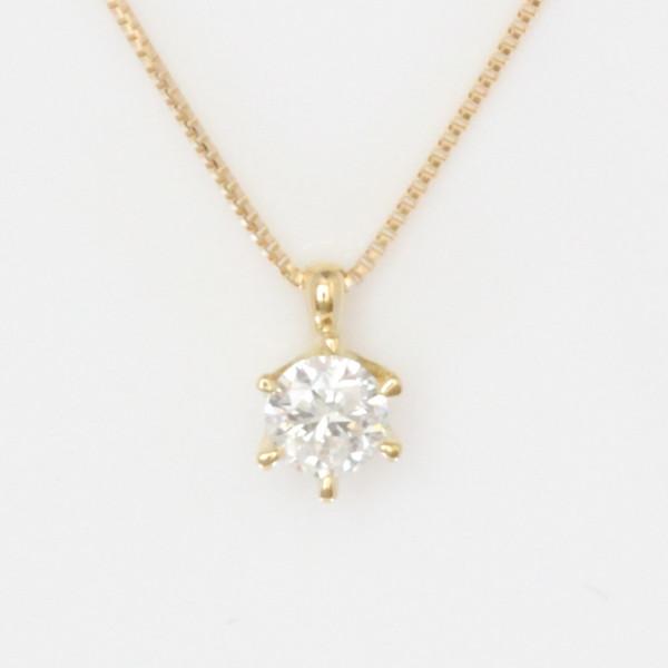 K18YG 0.15ct 一粒ダイヤ ダイヤモンドネックレス ダイヤモンドネックレス ダイヤモンドネックレス eaf