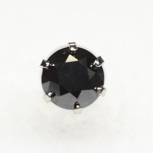 プラチナ ブラックダイヤ 片耳 BD0.5ct 5mm