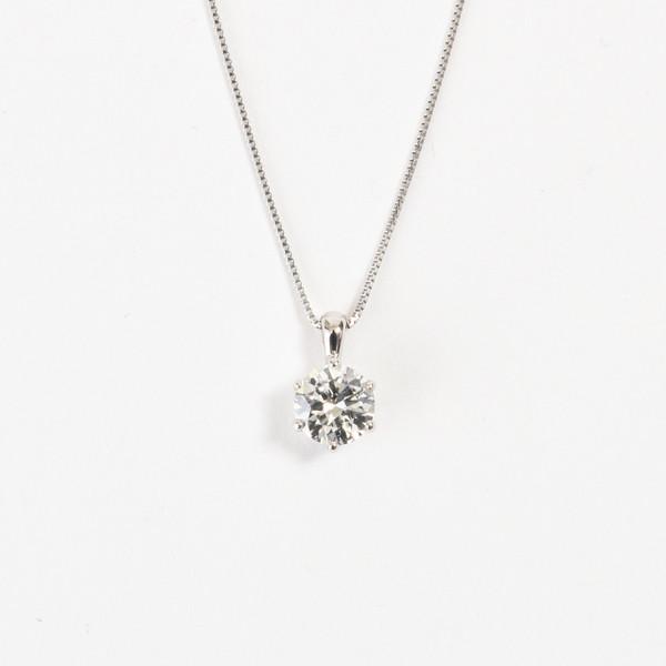 【中央宝石研究所鑑定書付 H-SI2-GD UP】Pt900 0.5ctUPダイヤネックレス