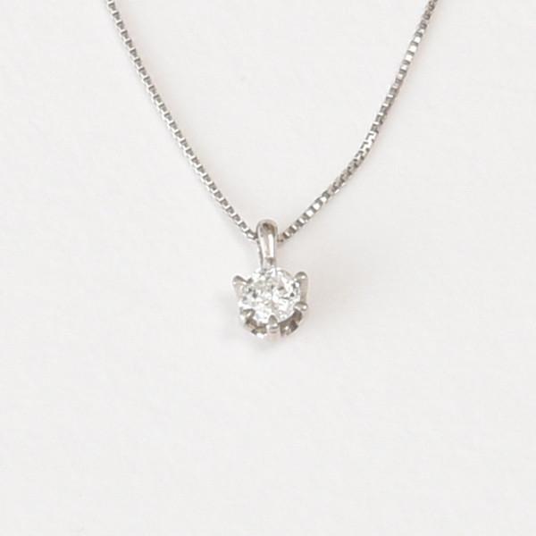 PT900 プラチナ 0.07ct ダイヤモンドネックレス