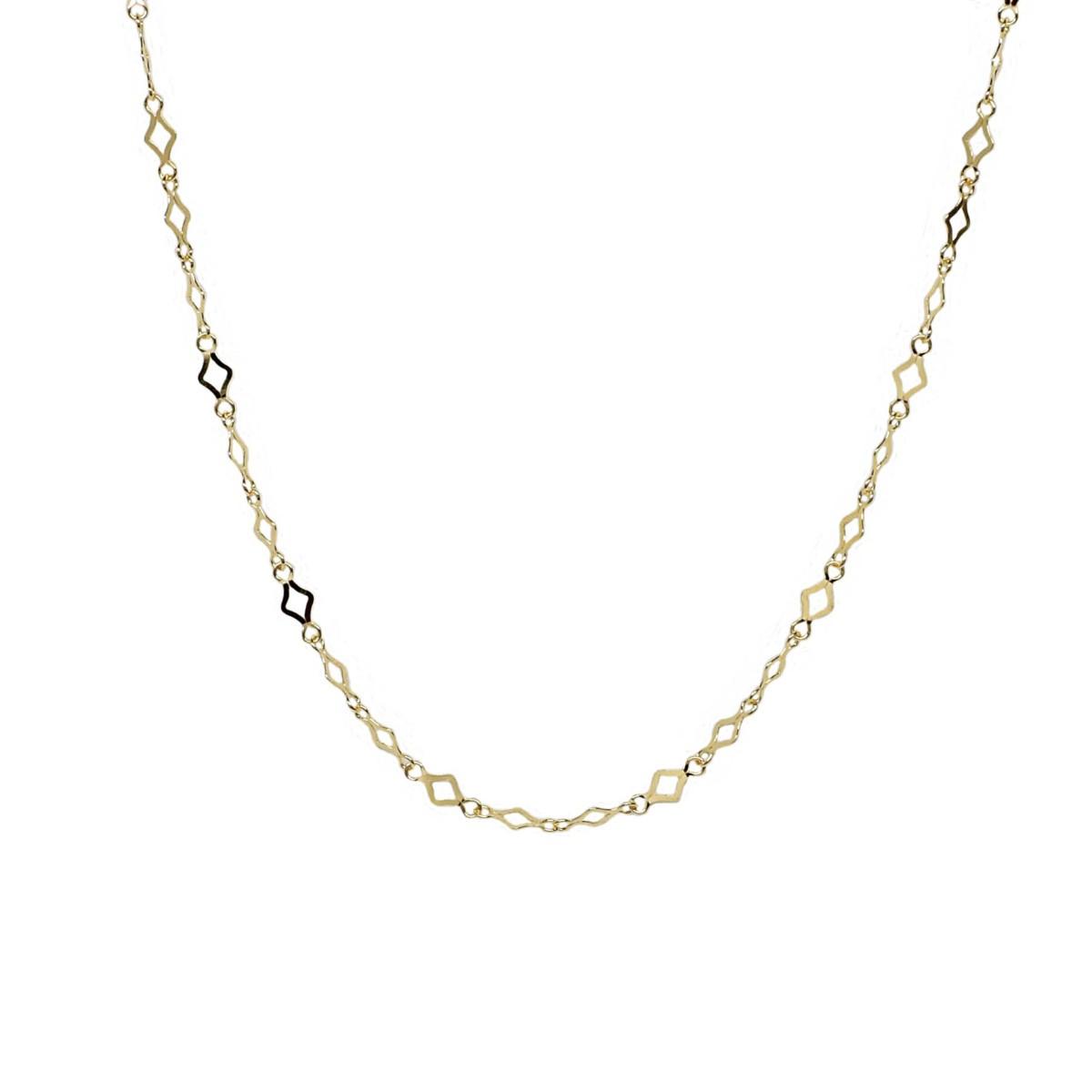 K18 18金 スパークルチェーン デザインネックレス 約1.7g 43cm