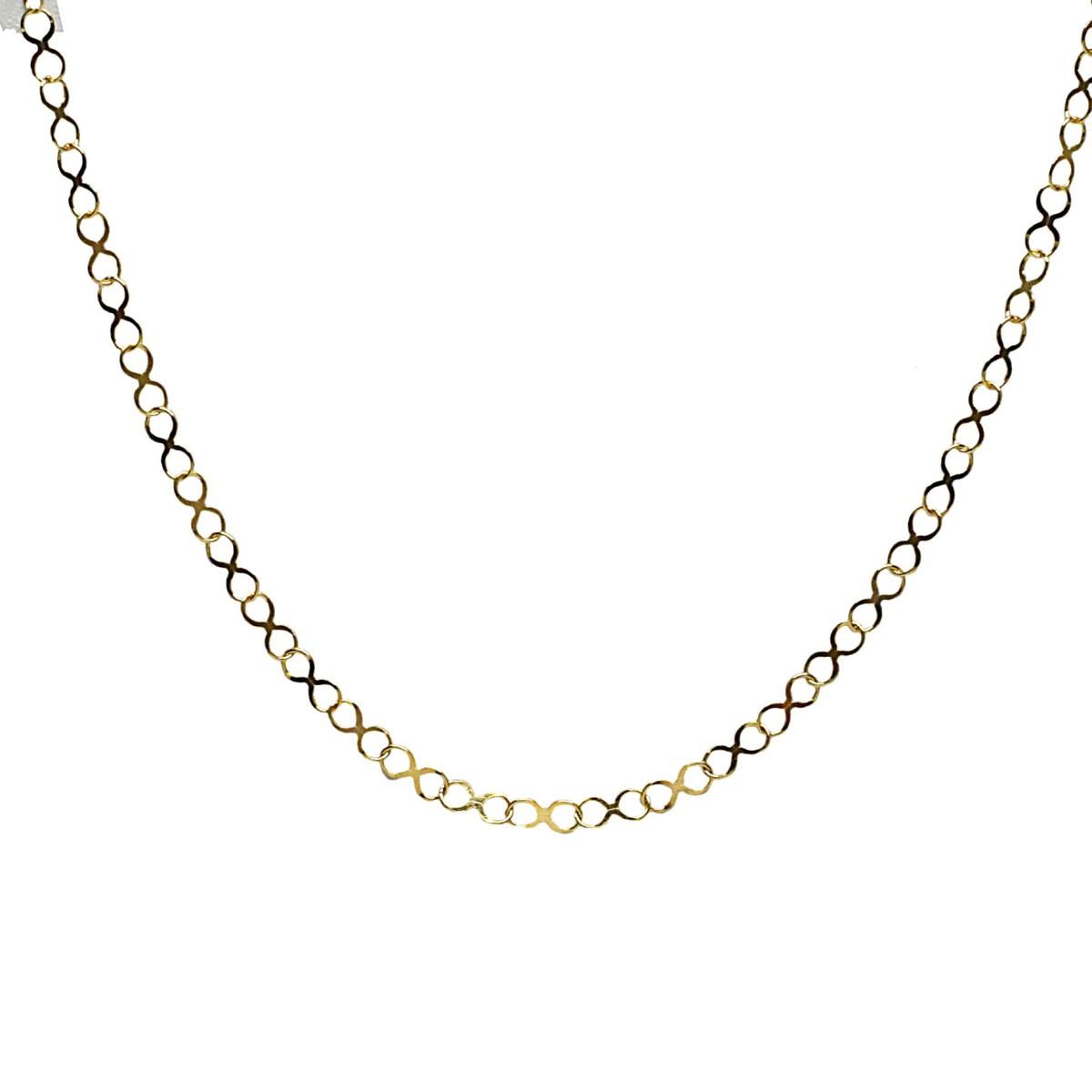 K18 18金 インフィニティ デザインネックレス 約2.0g 45cm