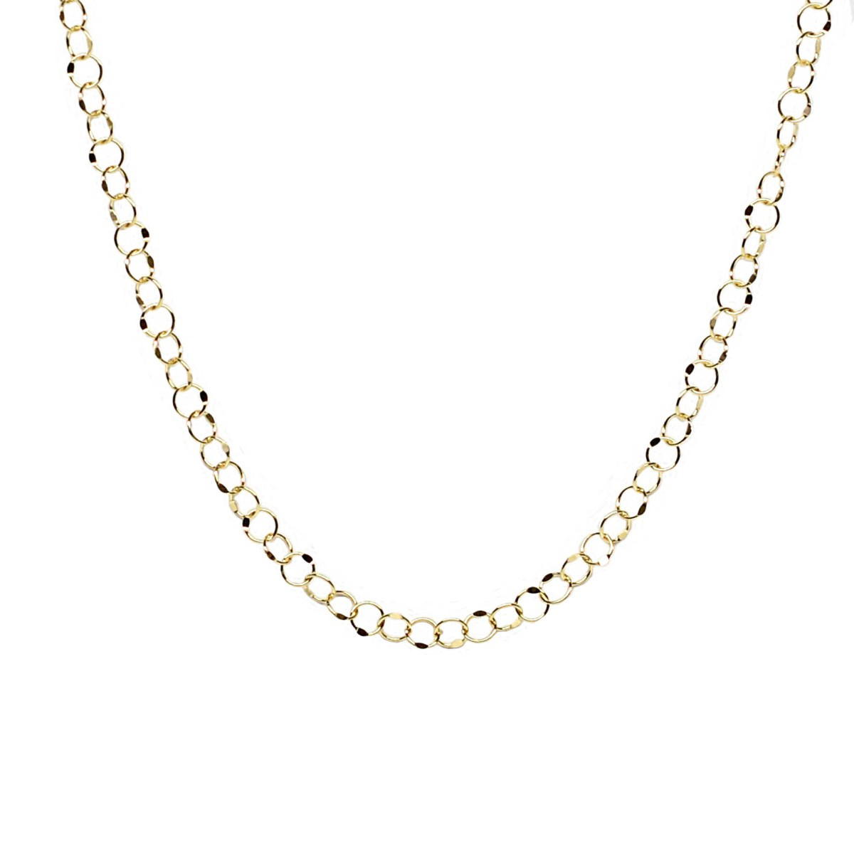 K18 18金 バブルチェーン デザインネックレス 約2.3g 45cm