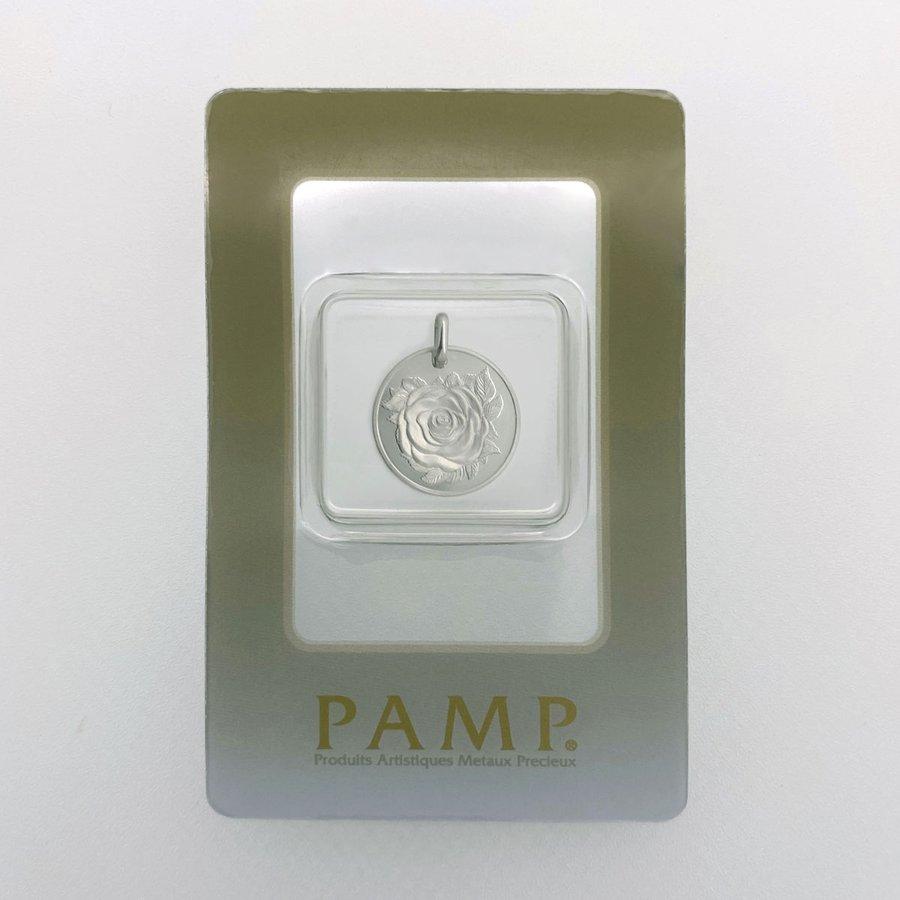 PAMP 純プラチナ Pt999 5g ローズ・ソロモン (バラ 薔薇) バチカン一体型(バチカンも純プラです)