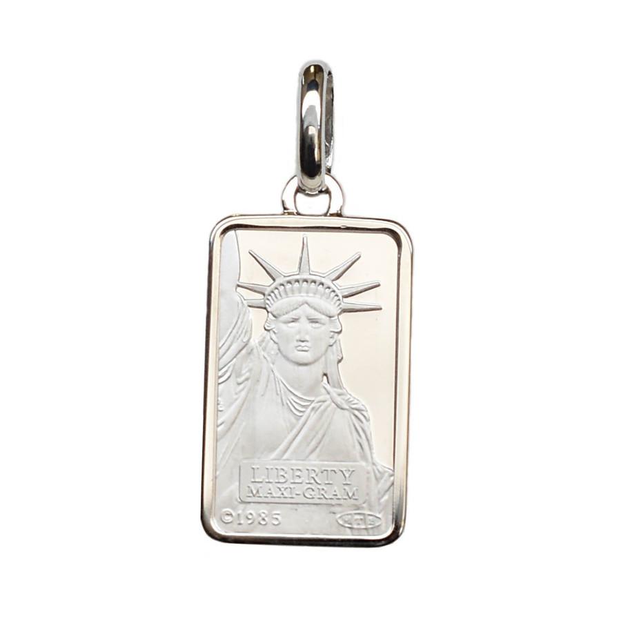 リバティコイン Pt999.5(純プラチナ) 5g リバティコイン インゴット 自由の女神 プラチナ850枠付きペンダントトップ