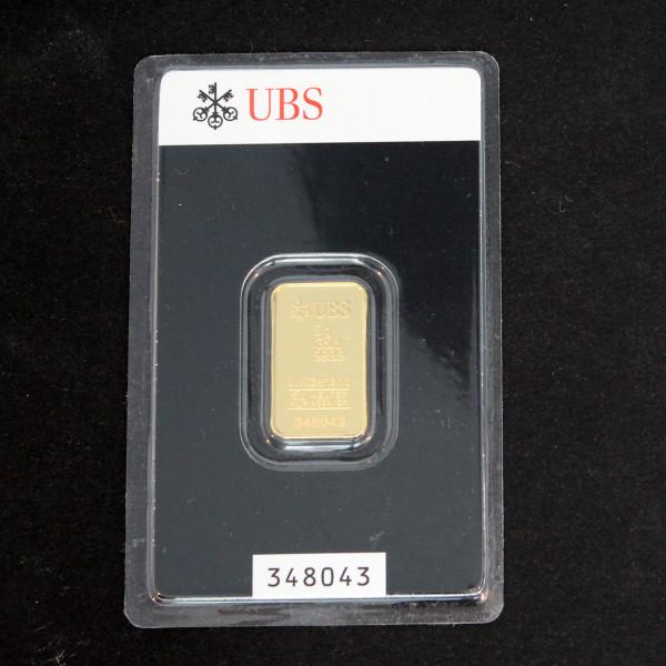 【送料無料】24金 インゴット INGOT [UBS インゴット 5g] ゴールドバー『金の国際ブランド グッドデリバリー・バー』