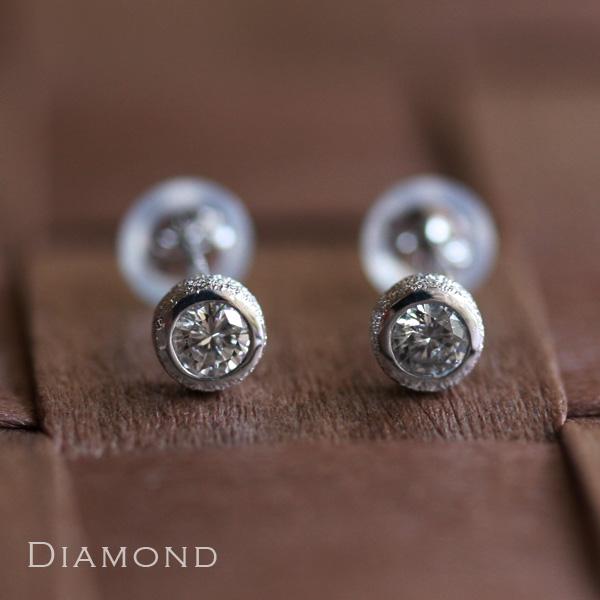 ホワイトゴールド ピアス レディース k18 18金0.2ctダイヤ ピアス 人気の一粒ダイヤ プレゼント DEVAS ディーヴァス