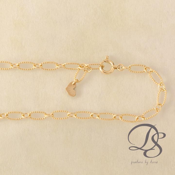 ゴールド ブレスレット レディース k18 18金 大きめ楕円のデザインチェーン ブレスレット プレゼント DEVAS ディーヴァス