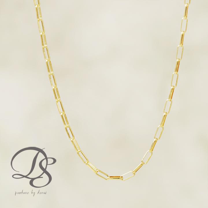 18金 ネックレスネックレス レディース K18 フィガロチェーンゴールドネックレス シンプル 人気 K18 ネックレス プレゼント DEVAS ディーヴァス