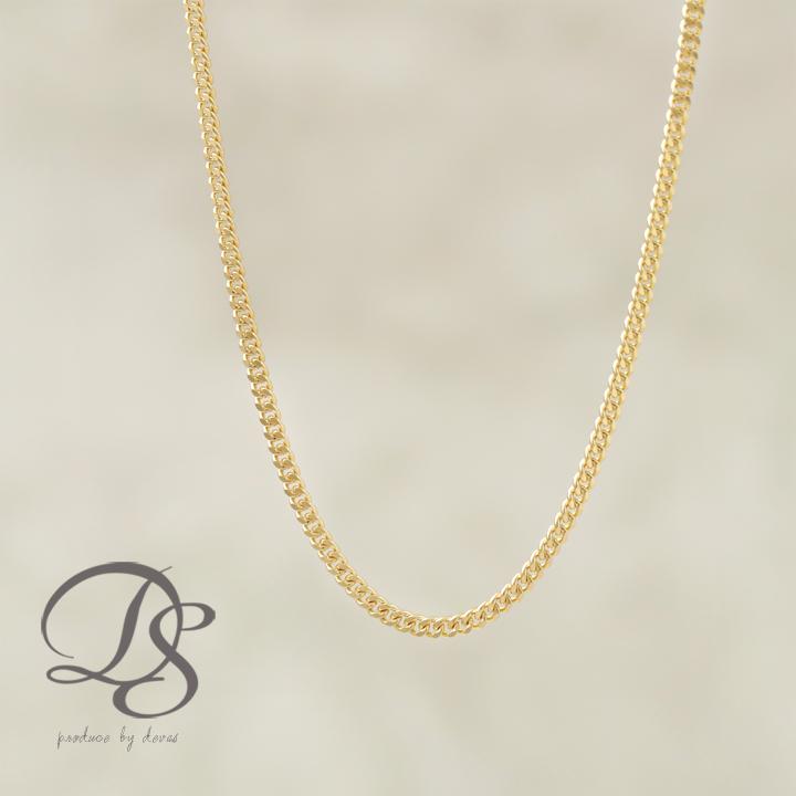 DEVAS ディーヴァス 喜平チェーン メンズ レディース 18金ネックレス 幅1.4mm ゴールドネックレス k18ネックレス 18kネックレス ゴールドチェーンネックレス プレゼント