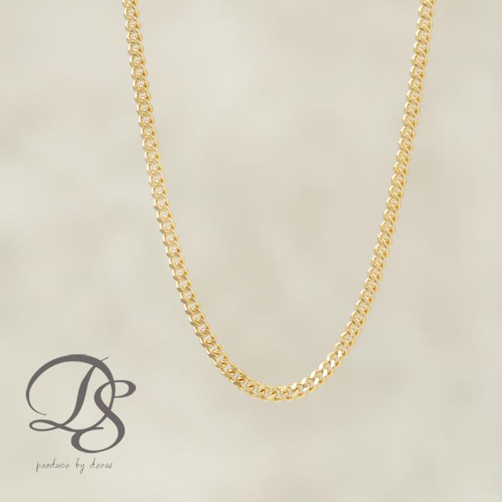 DEVAS ディーヴァス 喜平チェーン メンズ レディース 18金ネックレス 幅1.5mm ゴールドネックレス k18ネックレス 18kネックレス ゴールドチェーンネックレス プレゼント