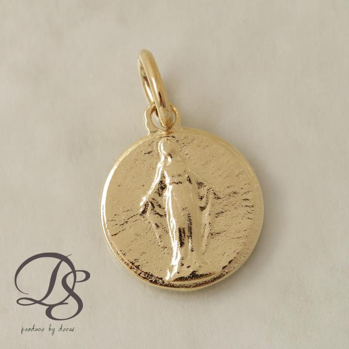 ゴールド ペンダント レディース メンズ k18 18金 18Kマリア チャーム ペンダント ネックレス  プレゼント DEVAS ディーヴァス