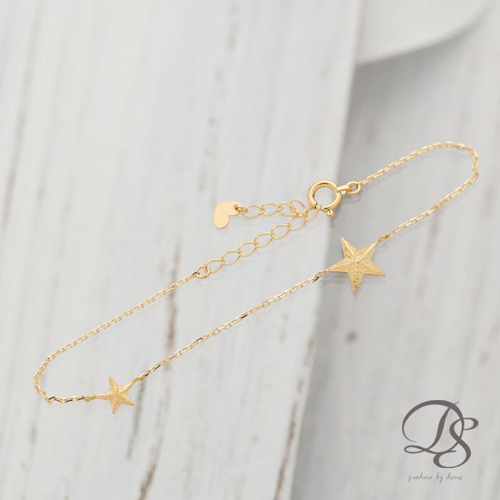 18金 ゴールド ブレスレット星 スター モチーフレディース ブレスレットK18 18K   プレゼント DEVAS ディーヴァス