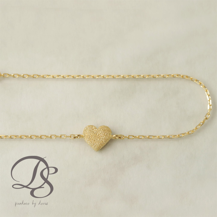 18金 ゴールド ブレスレットハート モチーフレディース ブレスレットK18 18K   プレゼント DEVAS ディーヴァス